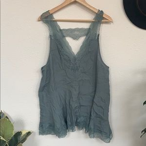 Lacy free people tank